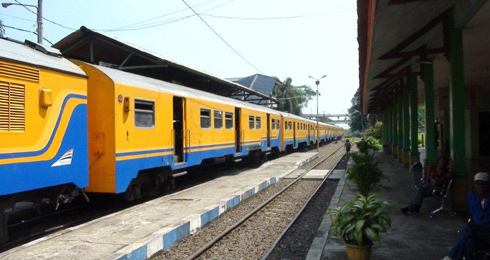 The train from Jakarta to Merak, for the ferry to Sumatra