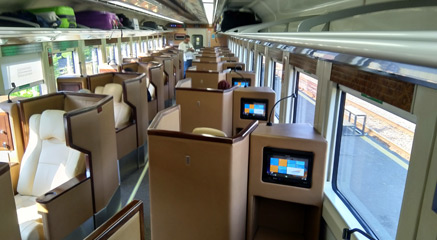 Eksekutif luxury class on Jakarta-Surabaya train