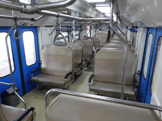 Interior of Prameks train