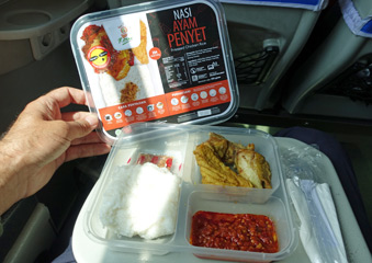 Typical Indonesian train food