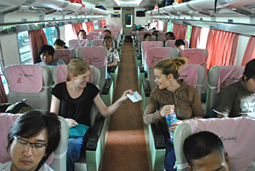The train from Surabaya to Banyuwangi for the ferry to Bali