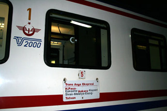 The Istanbul to Tehran train
