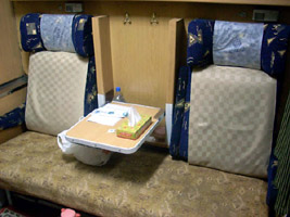 4-berth sleeper on the Iranian train