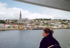 The seafront at Cobh in Cork Harbour, seen from the deck of a Swansea-Cork ferry