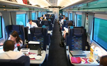 First class on a Dublin-Cork train