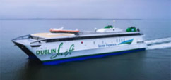 Irish Ferries 'Dublin Swift' from Holyhead to Dublin.  Photo courtesy of Irish Ferries