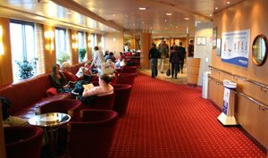 On board Irish Ferries ship 'Ulysses' from Holyhead to Dublin