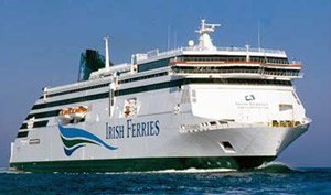 Irish Ferries ship 'Ulysses' from Holyhead to Dublin