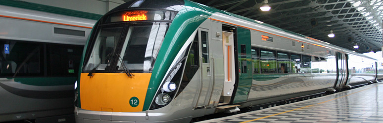 InterCity railcar from Dublin arrived at Limerick