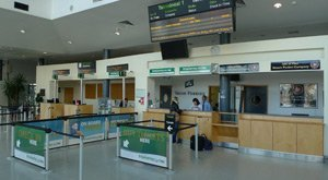 Irish Ferries desk at Dublin port
