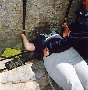 Kissing the Blarney Stone at Blarney Castle, Ireland
