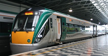Train travel inIreland:  New intercity railcar at Limerick