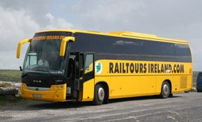 Railtours Irelands bus - day trips from Dublin