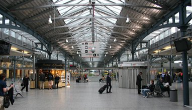 Inside Heuston station, Dublin