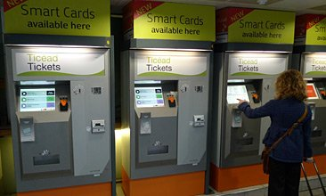 Buy cheap Irish train tickets online, then pick them up from these machines