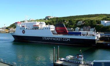 The Isle of Man Steam Packet Company's ferry 'Ben My Chree' at Douglas