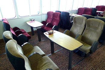 The Premium lounge on the fast ferry 'Manannan'