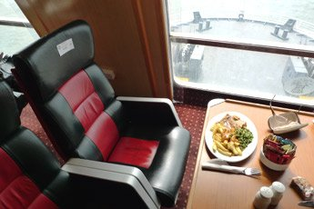 Premium lounge on the ferry 'Ben My Chree'
