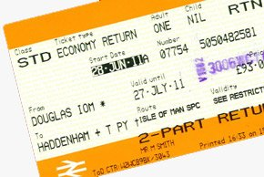 Train & ferry ticket to the Isle of Man
