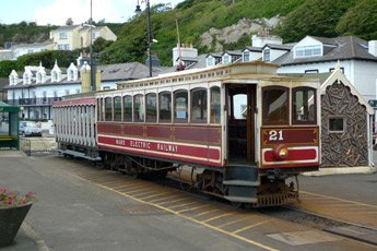 Manx Electric Railway tram No.21 at Douglas terminus.