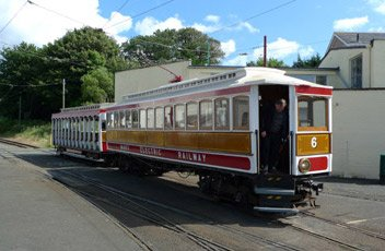 Manx Electric Railway tram No.6 at Ramsey