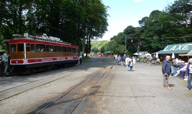 Laxey station on the Manx Electric Railway
