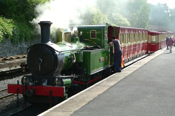 The Isle of Man Steam Railway, 09:50 to Pt Erin, at Douglas station