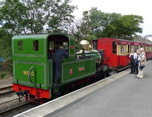 Steam train at Port Erin