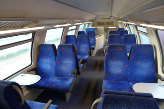 Seats on an Israeli double-eck train