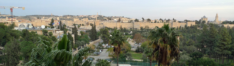 View of Jerusalem Old City from the King David Hotel