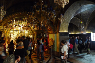 Site of the cross, Church of the Holy Sepulchre