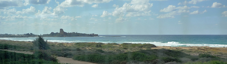 Mediterranean coast from the Tel Aviv-Haifa train