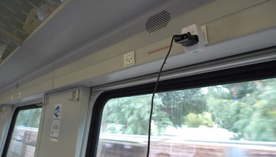 Wifi & power sockets on the train