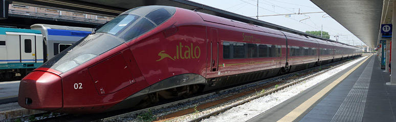 Italo AGV train at Venice Santa Lucia