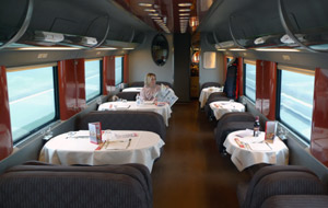 Restaurant car, Italian Eurostar Italia train