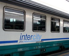 An air-conditioned InterCity train in Italy...