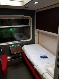 Excelsior sleeper on the Rome to Sicily train