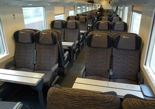 2nd class seats on a Frecciabianca