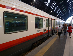 Frecciabianca train to Venice, seen at Milan Centrale