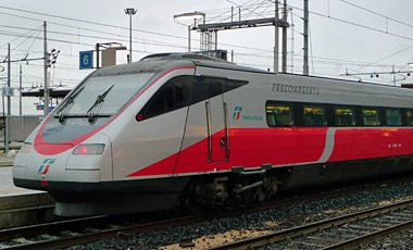 Trenitalia ETR485 'Frecciargento' train at Verona