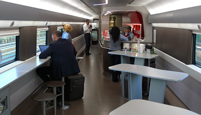 Frecciarossa cafe-bar area