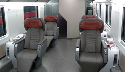 Executive class on a Trenitalia Frecciarossa