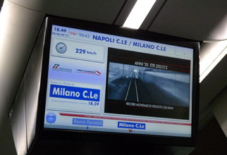 Frecciarossa information screen