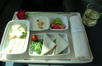 Executive class complimentary meal