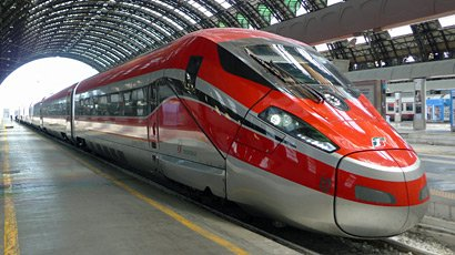 A Frecciarossa 1000 train at Milan Centrale
