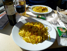 Meal on a Swiss EuroCity train between Switzerland & Milan