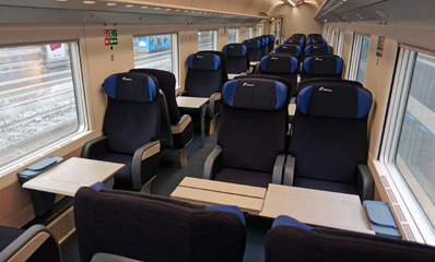 InterCity train, 1st class