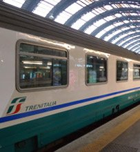 Italian InterCity train at Milan