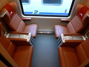 A Club class 'salottino' on an Italo train