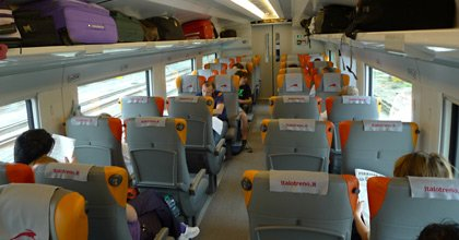 Italo train, Smart ambience seating